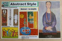 How I teach styles of art: Abstract poster