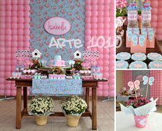 Arte 1010: Festa Jardim em Rosa e Azul