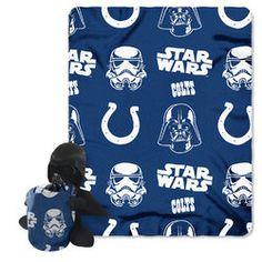Indianapolis Colts NFL Star Wars Darth Vader Hugger & Fleece Blanket Throw Set