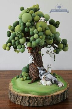 Árbol en porcelana fría