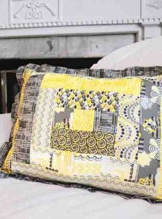 Try this simple, quilted decorative pillow project. | easy quilting project | shop supplies @joannstores
