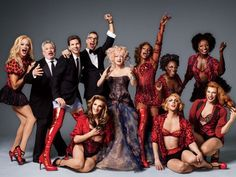 Cyndi Lauper and the cast of the fabulous new Broadway musical Kinky Boots give us a behind-the-scenes look at recording the official cast album. Theatre Geek, Musical Theatre, Theater, Kinky Boots Musical, Prom Photography Poses, Children Photography, Group Photography, Best New Songs, Harvey Fierstein