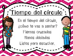 "Spanish poems to help the little ones remember how to sit on the carpet for circle time! Matches ""Caminando en la fila."" By Profe Emily"