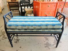 Faux Bamboo CHIPPENDALE Bench for Under the Window :)