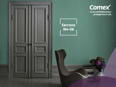 Sobrio y muy elegante, crea espacios únicos con nuestro color #Serrano #ComexPinturerías #Decoración