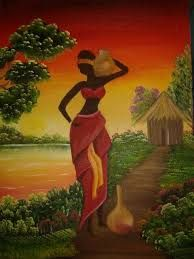 Resultado de imagen para utilisima cuadros africanos con aplicaciones en tela