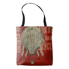 Steampunk Hot Air Ballon Ride Graphic Fonts Tote Bag - fathers day best dad diy gift idea cyo personalize father family