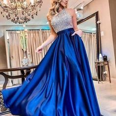 Women's Sexy Off-shoulder Round Neck Splicing Evening Dress Women's Dresses, Blue Dresses, Evening Dresses Online, Blue Evening Dresses, Dress Online, Party Dresses For Women, Prom Party Dresses, Wedding Dresses, Ruched Dress