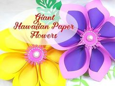 Giant paper flower tutorials diy large hibiscus flowers paper alana style giant flower templates mightylinksfo