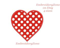 Heart for decor 1. APPLIQUE embroidery design. от EmbroideryZone