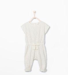 Jumpsuit met bloemen en strik-Jurken-Baby meisje (3-36 maanden)-KINDEREN   ZARA Nederland