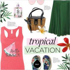 Сочетание в одежде кораллового и зеленого - модный летний look 2017