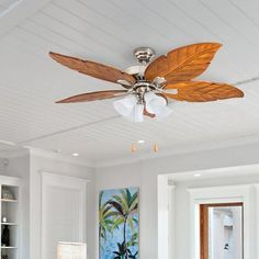 Ogden 5 Blade Ceiling Fan Get the look you've always wanted with a state of the art. This Ogden 5 Blade Ceiling Fan i Best Ceiling Fans, Ceiling Fan With Remote, Ceiling Fan Accessories, Bamboo Ceiling, Brushed Nickel Ceiling Fan, Ceiling Fan Blades, Transitional Wall Sconces, Cool Floor Lamps, State Art