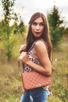 Camel Quilted Bag - Dottie Couture Boutique