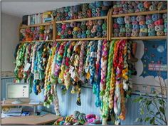 Fiber stash. This would be a dream come true for me.