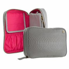 If you can't decide what to bring on your trip, why not get a cosmetic bag that can store all of it?