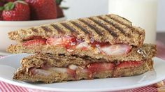 Adults will love this quick and easy panini made special with strawberries and nuts.