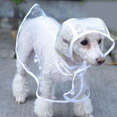 High-quality White Pet Dog Puppy Rain Coat Clothes Hooded Waterproof Jacket Rainwear XS--XL - NewChic Mobile.