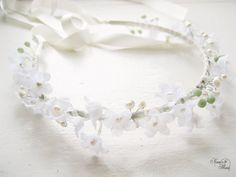 Bridal Flower Headband Lily of the Valley by NoonOnTheMoon on Etsy, $80.00