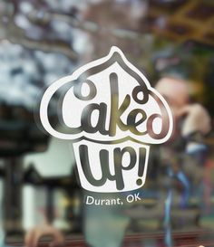 """Brand Design Process: Lettering a Logo & Brand for """"Caked Up! Durant"""" pacificletters.co..."""