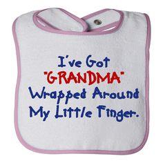 i have got grandma baby bib