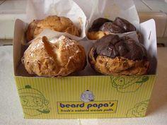 Huge cream puffs from Beard Papa's. So good!