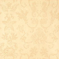 Swept Away #wallpaper in #beige from the Seaside collection. #Thibaut