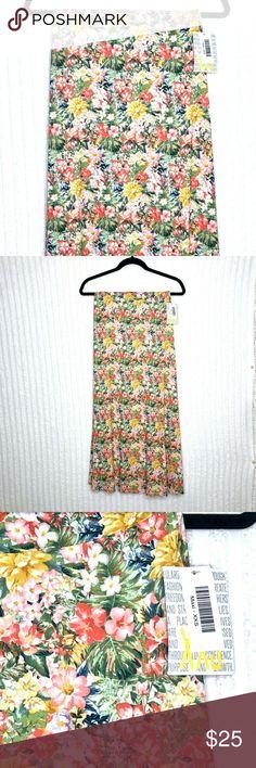 Lularoe Black Orange White And Green Forest Floral Print Leggings OS New Rare