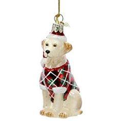 Kurt Adler Noble Gems Yellow Labrador Retriever Christmas Ornament