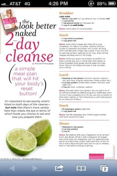 2-Day Detox Cleanse to kickstart your diet! by ana.stazie