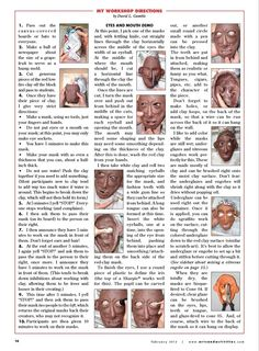 Resource to print for my gargoyle mask lesson. clay mask face