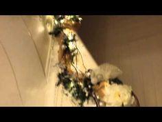 Shabbylishmas 2014 Part 4  stairwell garland reveal