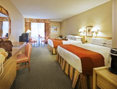 Hope this is what my room looks like in April. A typical Standard room at the Howard Johnson Hotel. Feature two Queen size pillow-top beds.