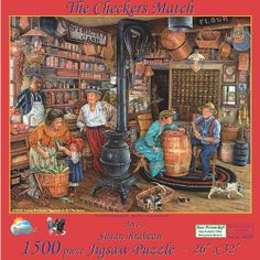 The General Store is a 300 piece jigsaw puzzle by SunsOut. Puzzle measures x when complete. Artwork by Susan Brabeau.SunsOut puzzles are made in the USAEco-friendly soy-based inksRecycled boardsNot sold in mass-market stores Art And Illustration, Illustrations, Arte Country, Norman Rockwell, Cross Stitch Pictures, Cross Paintings, Cute Art, Vintage Art, Folk Art