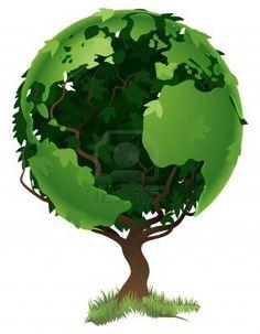 Umweltkonzept. Baum Des Weltglobus In Seine Zweige Und Blätter Bilden Lizenzfrei Nutzbare Vektorgrafiken, Clip Arts, Illustrationen. Image 9088549.