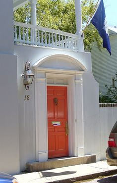 As the apartment search begins, I will look for one with a coral door!!