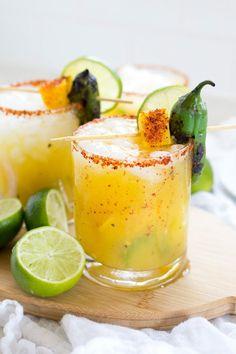 Delicious Spicy Mango Jalapeño Margarita • Freutcake