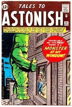 Tales to Astonish comic books comics Kirby Sci Fi Comics, Old Comics, Horror Comics, Marvel Comic Books, Vintage Comics, Comic Books Art, Horror Art, Tales To Astonish, Silver Age Comics