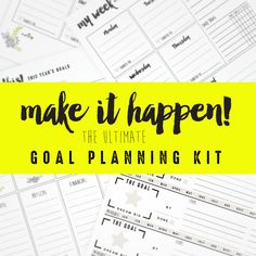 At the start of each year I set out to make some changes and hopefully do things a bit better than I did the year before. One thing that helps me is if I write it all out. I need a plan! For me, the k