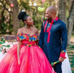 Couples African Outfits, African Attire, African Fashion Dresses, African Dress, African Traditional Wedding, African Traditional Dresses, Tsonga Traditional Dresses, African Print Dress Designs, African Prints