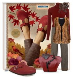 """Birkenstock for Fall"" by queenofsienna ❤ liked on Polyvore featuring Alice + Olivia, A.L.C., Studio and Birkenstock"