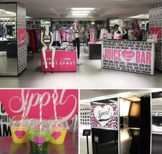 Our Black High Gloss Booth was on Location in Harrods branding Juicy Coutures Sports Range.