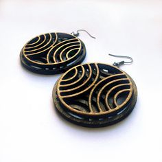 Retro Layered Wooden Earrings. 19.99