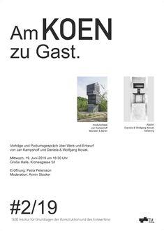 Jan Kampshoff an der TU Graz – DE / CO Salzburg, Jaba, Architecture, Graz, Arquitetura, Architecture Design