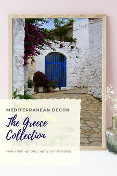The Greece collection of fine-art prints is sure to inspire you! Warm up your walls and give your home office some love to fill you with wanderlust as you work from home!