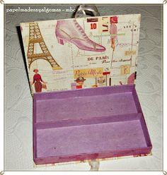 Papel, madera y algo más: Un encargo muy especial.   Cartonnage - new box order.