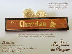 Balaji Chandan - Uno de los mejores y más finos inciensos. Hecho a mano con extractos naturales y aceites esenciales de sándalo. Ideal para Conectarse con tus Guías Espirituales y con tu Yo superior. Excelente para la introspección.