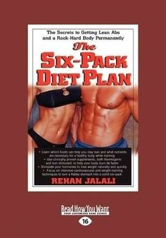 The six-pack diet plan: the secrets to getting lean abs and a rock-hard body permanently (large print 16pt) $17.98 abs shelbazgj toniallm erica6ogm