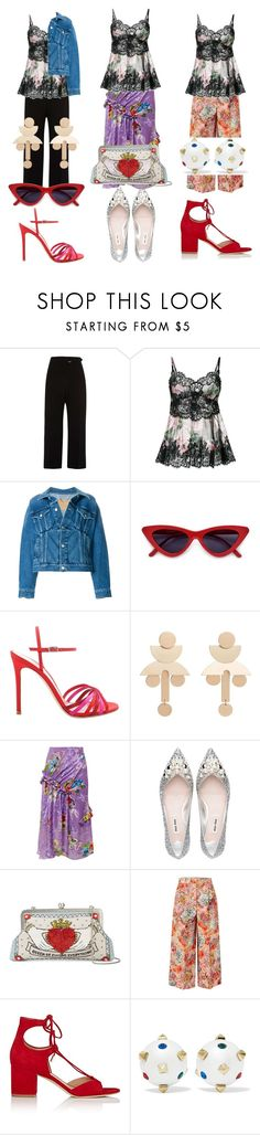 """""""3 Styles, 1 Camisole"""" by cuteprismgirl ❤ liked on Polyvore featuring River Island, Dolce&Gabbana, Balenciaga, Gianvito Rossi, MANGO, Preen, Sarah's Bag, Valentino and Diane Von Furstenberg"""