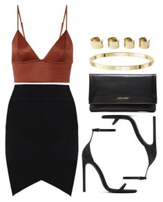 """Sin título #12398"" by vany-alvarado ❤ liked on Polyvore featuring Fleur du Mal, Yves Saint Laurent and Maison Margiela"